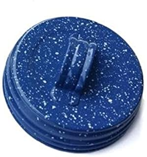 Factory Direct Craft Package of 6 Small Mouth Blue Speckle Painted Canning Jar Lids with Handle