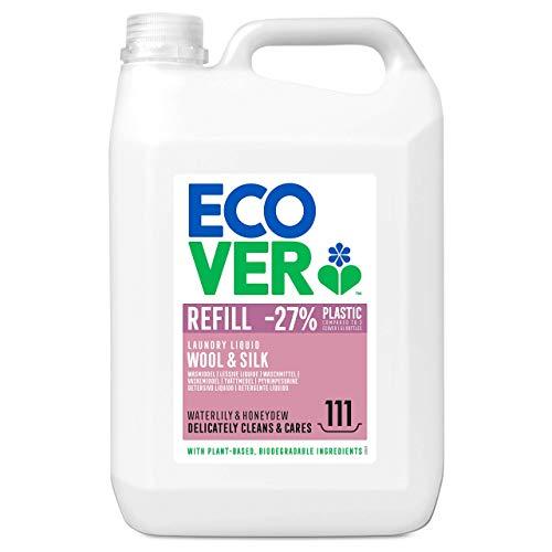 Ecover Feinwaschmittel Wolle & Feines (5 L/111 Waschladungen), Flüssigwaschmittel mit pflanzenbasierten Inhaltsstoffen, Ecover Waschmittel für empfindliche Textilien