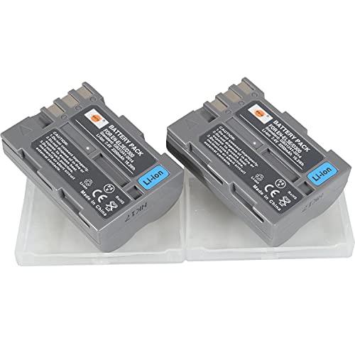 DSTE 2PCS EN-EL3E ENEL3E Li-Ion Akku Kompatibel mit Nikon D30 D50 D70 D70S D80 D90 D100 D200 D300 D300S D700