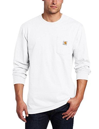 Carhartt Men's Workwear Jersey Pocket Long-Sleeve Shirt K126 (Regular and Big & Tall Sizes), White, X-Large