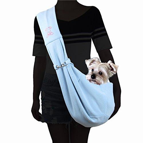Alfie Pet - Chico Reversible Pet Sling Carrier - Color: Blue