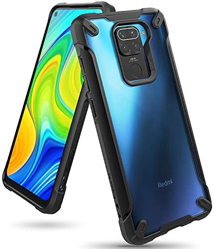 Ringke Fusion-X Diseñado para Funda Xiaomi Redmi Note 9 (2020) Transparente Carcasa Redmi Note 9, Parachoque TPU Resistente Impactos Funda Negra para Redmi Note 9 (6.53 Pulgadas) – Black (Negro)