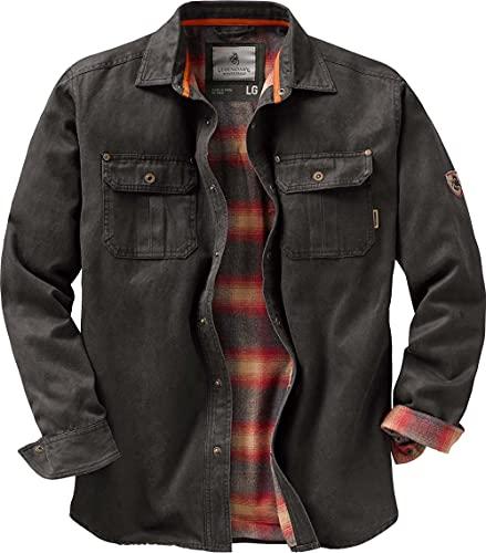 Legendary Whitetails Men's Journeyman Rugged Shirt Jacket, Tarmac, X-Large