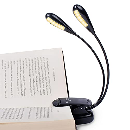 Vekkia Rechargeable 12 LED Warm Book Light