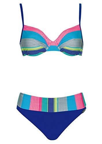 Bikini Colored Stripes Cup D, Farbe Multicolor, Größe 46