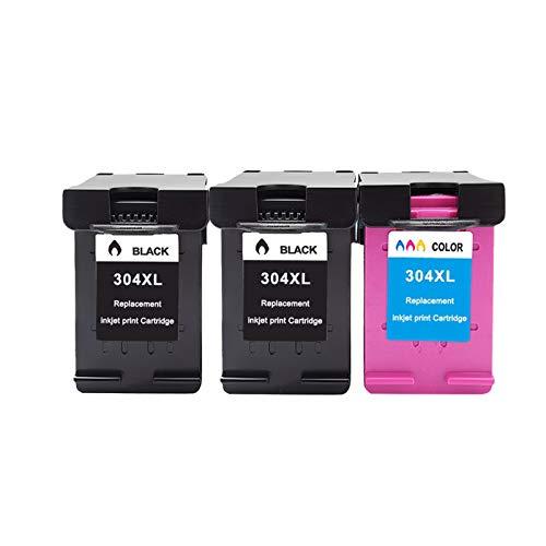 CMDZSW Cartucho de Tinta ASW 304XL Compatible para HP304 HP 304 XL Envy 5010 5020 5030 5032 5034 Deskjet 2632 2630 2620 3720 3721 3723 3720 3721 3723 (Color : 2BK 1C)