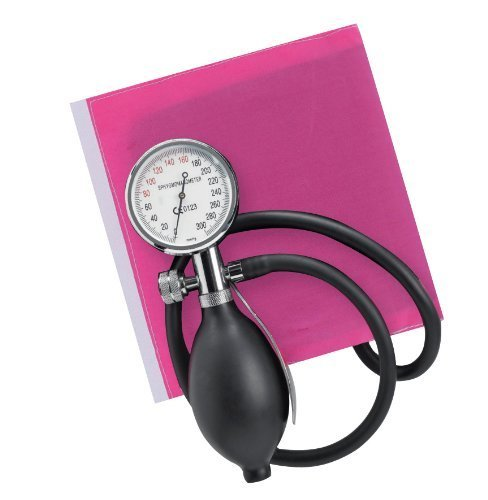 Timesco d05.110p Aneroid Sphygmomanometer, Saphir, Palm Held, Pink Manschette