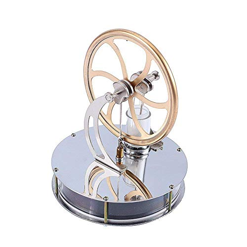 ZJchao Stirlingmotor, Stirling Engine, Stromgeneratormotor der niedrigen Temperatur für Bildung, Spielzeuggeschenk Gold
