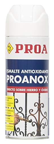 ESMALTE PROANOX DIRECTO SOBRE ÓXIDO EN SPRAY. PROA. Esmalte antioxidante para metales sin necesidad de imprimación. Exterior e interior. 400ML.