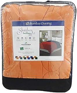 Bombay Dyeing Polyester 200 TC Reversible Quilt (Single_Orange)