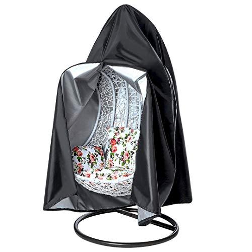 Tocawe Funda para silla colgante, impermeable, con cordón, con cremallera, para columpio de patio,...