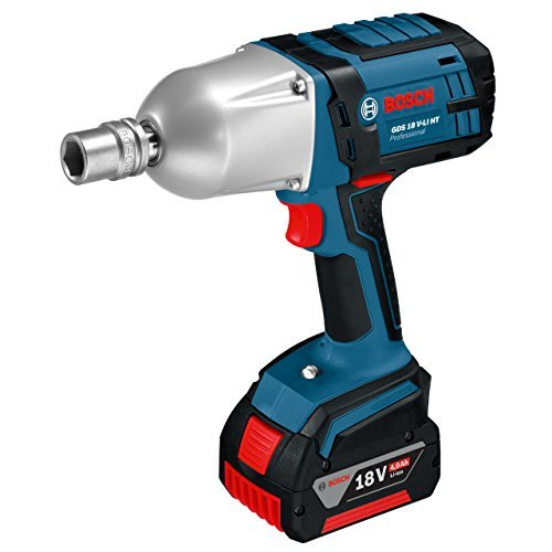 Bosch GDS 18 V-LI HT Professional Cordless Impact Wrench 18 V (includes 2 x 4.0 Ah Lithium Ion CoolPack Batteries) by Bosch Professional