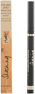 Yves Saint Laurent Shocking Eyeliner Effet Faux Cils Bold Felt Tip Eye Liner Pen, No. 1 Black, 0.04 Ounce