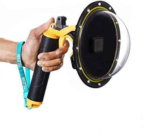 Porta a cupola per GoPro Hero 7 Hero 6 Hero 5 Black Hero 2018, GoPro Dome con custodia impermeabile per custodia subacquea Impugnatura galleggiante e custodia trasparente per fotografia subacquea