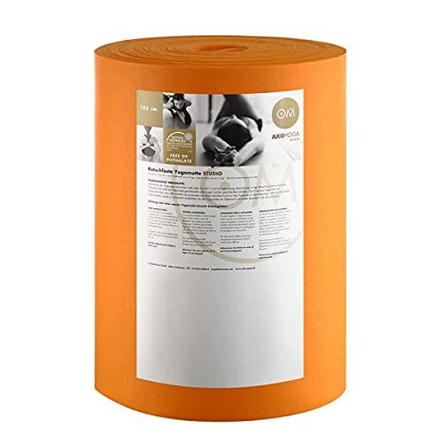 Rollo de Esterilla de Yoga Premium 30m x 60cm x 0.30cm, Rollo de 30m x 60cm x 0, 3cm Lavable a máquina hasta 60º C Material: PVC, Unisex, Naranja