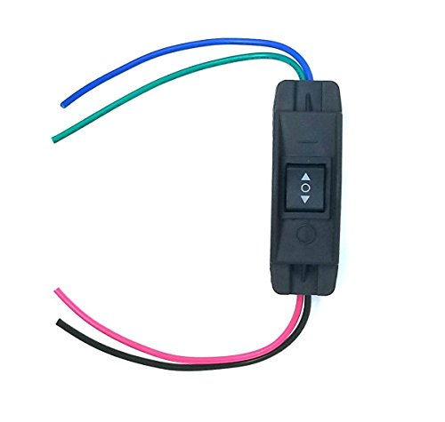 WindyNation 25A DPDT Forward Reverse Up Down Reverse Polarity Switch for Hoist, Winch, Crane, Motor, Linear Actuator (Momentary Switch)