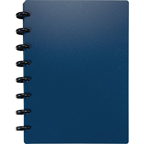 Staples? Arc Customizable Durable Poly Notebook System, Navy, 6-3/8 x 8-3/4 by Staples