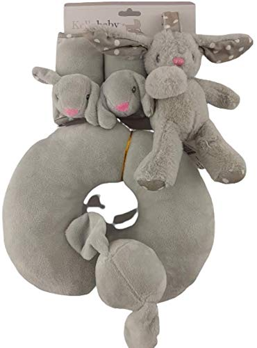 Kellybaby 3 Piece Baby Travel Set - Grey Baby Bunny