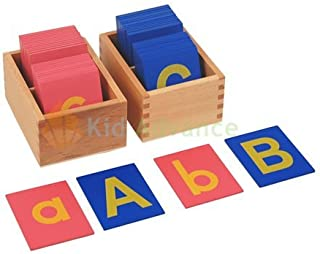 Kid Advance Montessori Lower and Capital Case Sandpaper Letters w/ Boxes