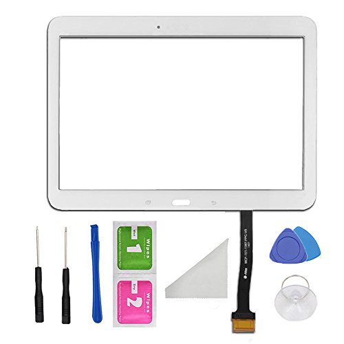 Displayrahmen, Touchscreen, Glas-Digitzer, weiß, Ersatzteil, für Samsung Galaxy Tab 410.1SM-T530T531T535, Werkzeug-Set, selbstklebend
