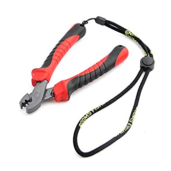 Booms Fishing CP2 Fishing Crimping Tool for Single-Barrel Sleeves