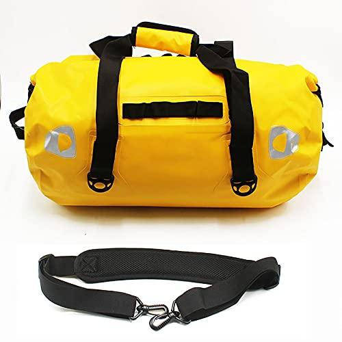 HuiguangTagNeu Bolsas Impermeables, Mochilas para Exteriores de Gran Capacidad y Bolsas con Tirantes Largos Ajustables, Mochilas flotantes secas, Bolsas de Playa livianas (40L,Yellow)