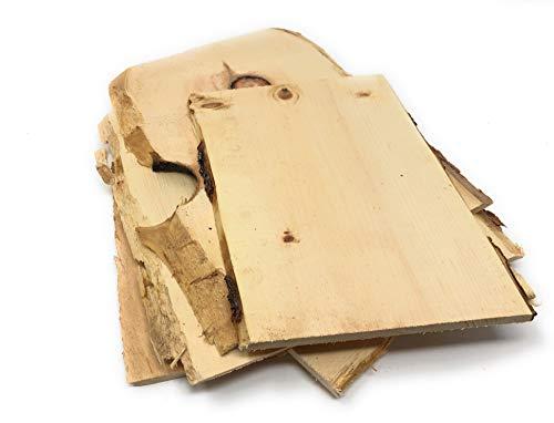 1kg Zirbenholz, gehobelte Bretter Zirbe mit Baumkante ca. 10mm stark, ideal zum Basteln, als Deko, DIY