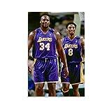 GDFG Kobe Bryant und Shaquille O Neal Leinwand-Kunst-Poster