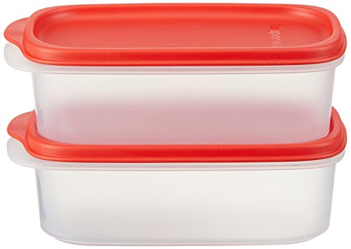 TUPPERWARE Smart Saver Vorratsdosen Sets 500 ml Red Seal / Transparent Base