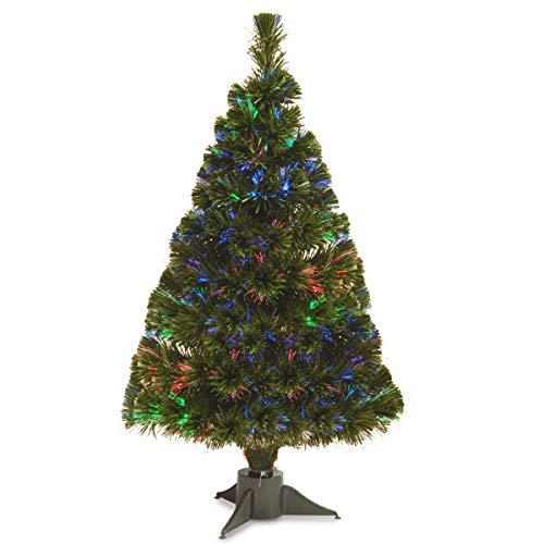 National Tree Company Pre-lit Artificial Christmas Tree | Fiber Optic Ice Tree - 32 Inch