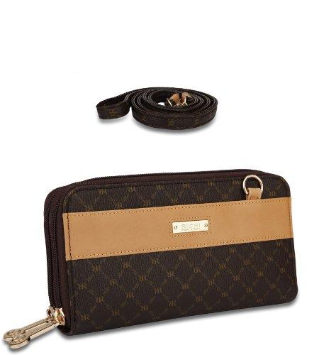 Signature Dual Zip Wallet Organizer by Rioni Designer Handbags & Luggage