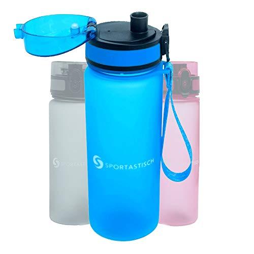 Sportastisch Top Produkt¹ Sport Trinkflasche Happy Fresh auslaufsicher, Premium Wasserflasche 650ml 21oz, Sportflasche Tritan mit Filter ideal für Kinder Fitness Gym Fußball Radfahren Wandern