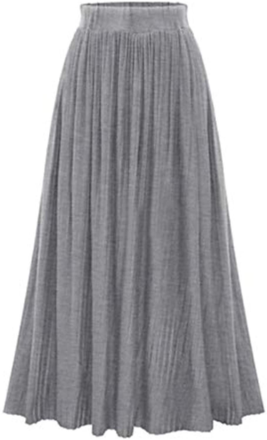 Women's Maxi Swing Skirts  Solid colord Slim