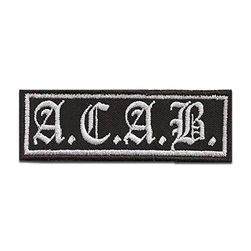 Parches - Biker cotizar frase A.C.A.B. - termoadhesivos bordados aplique para ropa