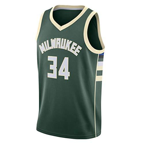 JX-PEP Trikots Die Letters 34#Giannis Antetokounmpo Basketball-Trikot Weste Sports Trainingsanzug Top,A,M