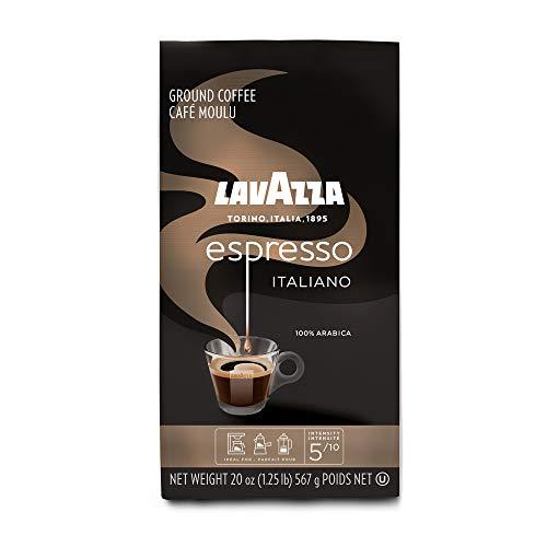 Lavazza Espresso Italiano Ground Coffee, 100% Arabica, 20 oz Soft Bag, Pack of 6