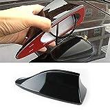 MOLEAQI Universal Car Radio Shark Fin Car Shark Antenna Radio FM Diseño de señal Antenas Antena Black Car Styling