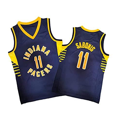 ZMQO PÁCIRS 11# SÁBONÍS Jerseys de Baloncesto para Hombres y Mujeres, Malla Bordada, Secado rápido, Cuello en v-XXL Dark Blue-XXL
