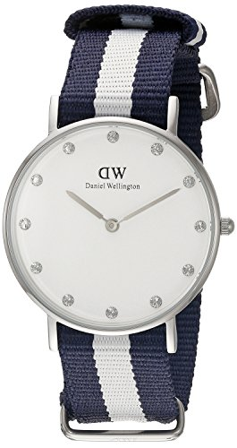 Daniel Wellington Damen Analog Quarz Uhr mit Nylon Armband DW00100082