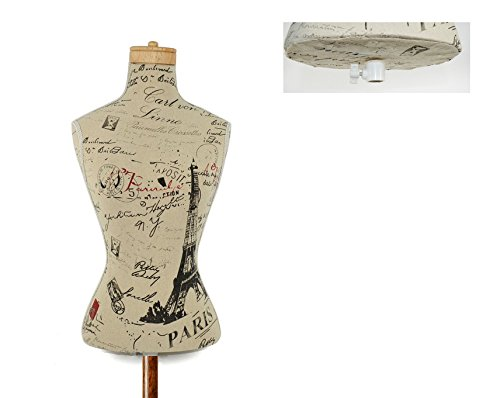 2Esse Manichino Busto Sartoriale Decorativo Design Vintage Alto 75 cm