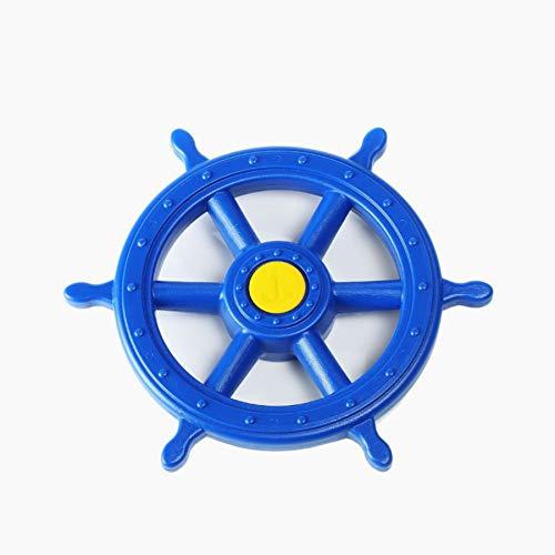 1 Stück h2i Steuerrad Schiffsruder Lenkrad beweglich in Blau für Kinder Spielturm