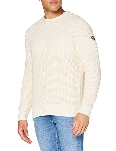 Schott NYC Pleliot1 Maglione Pullover, off White, Medium Uomo