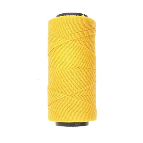 The Beadsmith Knot It Cordón de poliéster encerado, 1 mm de diámetro, carrete de 144 metros (amarillo dorado)