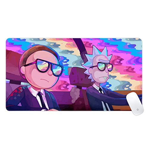 Non-Slip Cool Anime Mousepad, Waterproof Rubber Large Mouse Pad 29.5'X15.7' Gaming Mat for Office Computer Laptop
