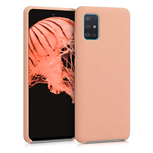 kwmobile TPU Silicone Case Compatible with Samsung Galaxy A51 - Case Slim Phone Cover with Soft Finish - Peach Nougat