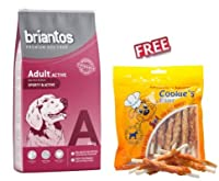 Briantos Adult Active 14kg is a premium quality kibble which is suitable for active and working adult dogs. It provides your pet with a nutritious, balanced meal. Made with a high percentage of easy to digest, quality animal protein (26%) to support ...
