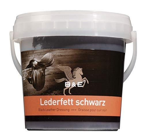 B & E Lederfett schwarz, 1000 ml für Schuhe, Handtaschen, Cabrio-Verdeck,Ledercombi,Ledercouch, Sättel und alle Glattleder Arten