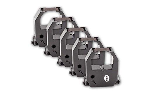 vhbw 5x Farbband Nylonband Tintenband Ersatz für Amano CE-315150, CE-315152 für Nadeldrucker
