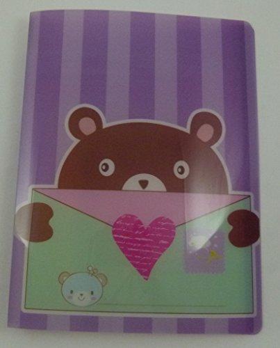 Enveloppe animaux 20 pochettes A4 légère dossier du fichier Affichage du livre mignon (Violet)