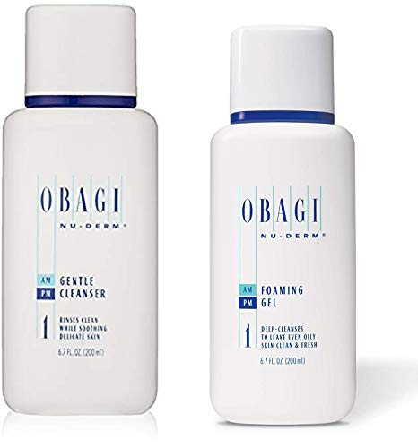 Obagi Nu-Derm Gentle Cleanser And Obagi Medical Nu-Derm Foaming Gel